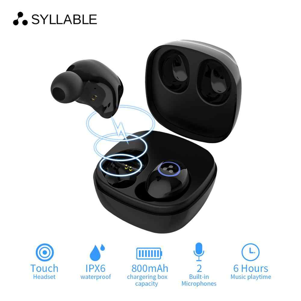 Sylaba SD16 Mini dotykowy słuchawki douszne z mikrofonem bezprzewodowa Bluetooth V5.0 muzyczny zestaw słuchawkowy słuchawki douszne z redukcją szumów sylaba SD16 6 godzin