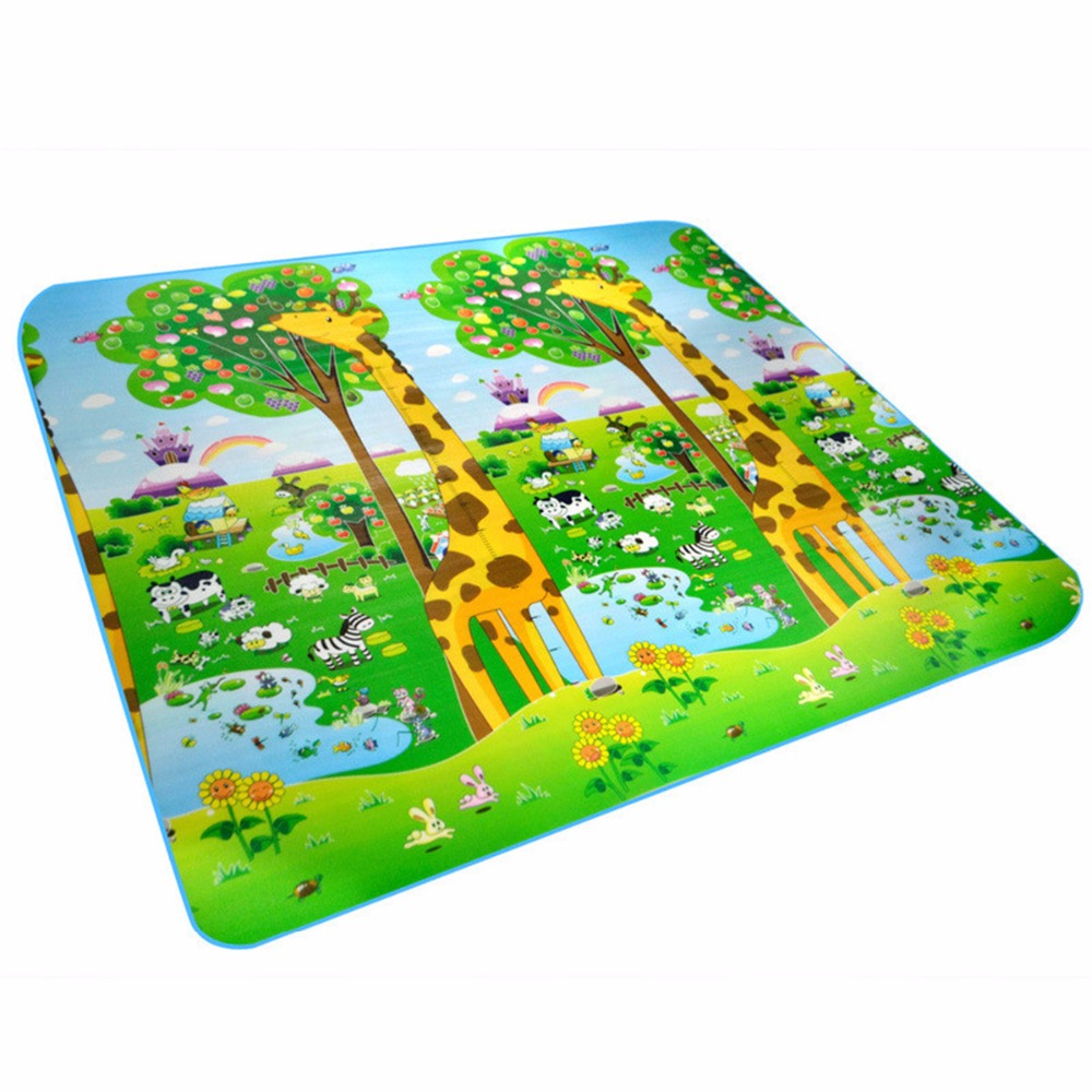 Children Kids Double Surface Crawling Game Pad Mambobaby Infant Baby Play Mat Developing Rug Newborns Animal Carpets Puzzle Mat
