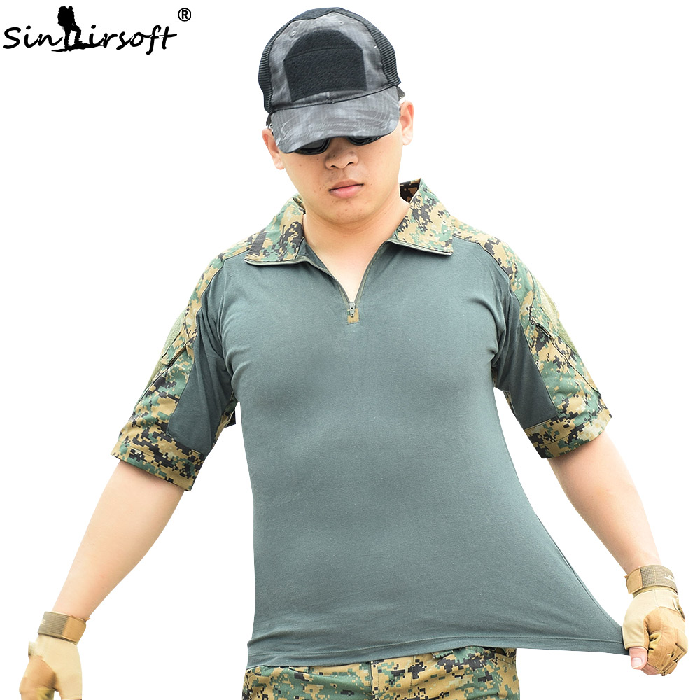 Aliexpress Buy Sinairsoft Tactical T Shirt Camouflage Army