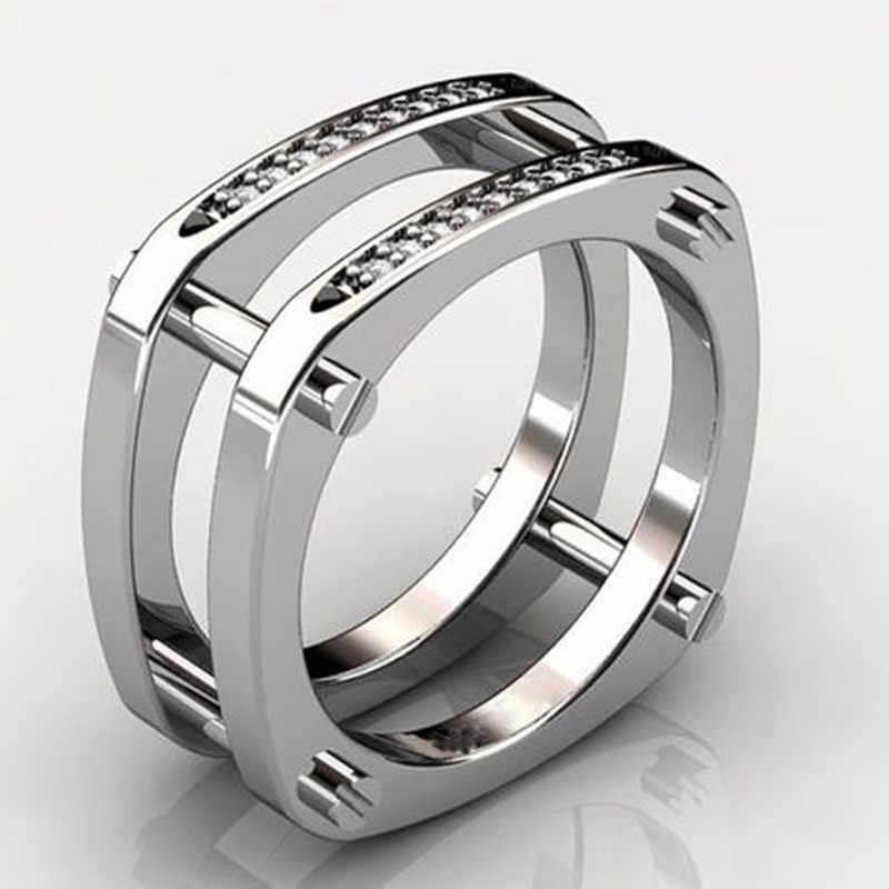 Modyle 100% genuino 925 anillos de plata de ley para mujer AAA zirconia cúbica brillante pavé ajuste joyería de fiesta femenina