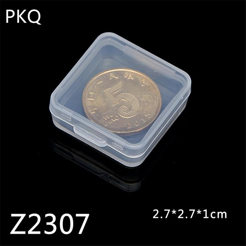 2 7x2 7x1cm Mini Plastic Box Clear Coin Capsules Box Small Part Jewelry Display Box Screw