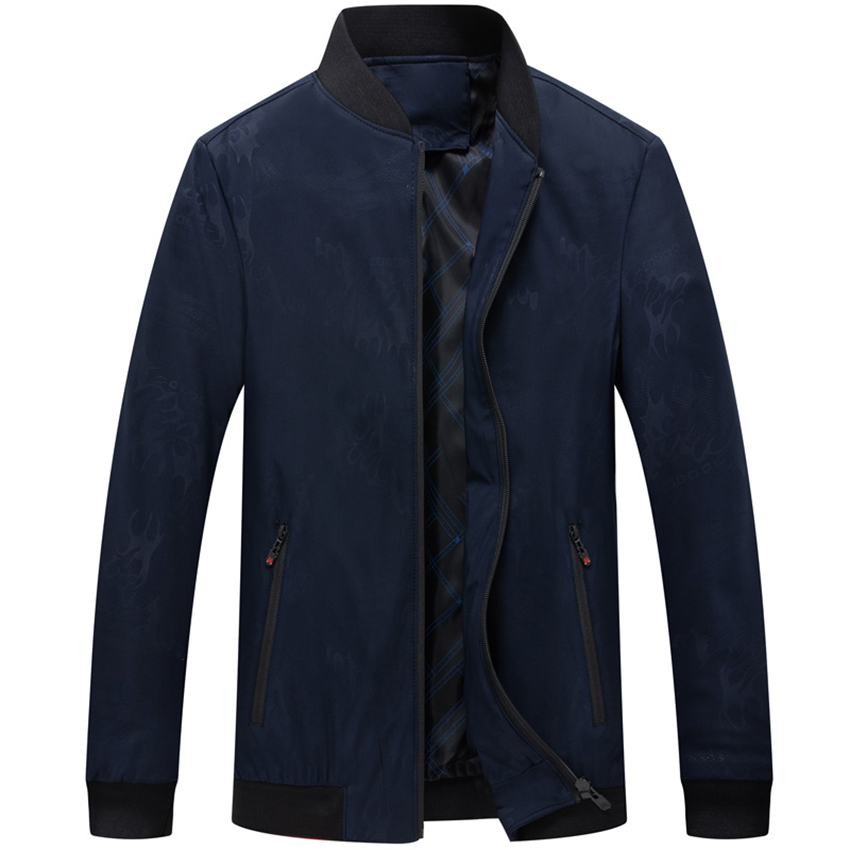 HCXY new arrival mens jacket and coats Solid color Casual Jacket for Men Spring Autumn Standing collar Business jacket man(China)