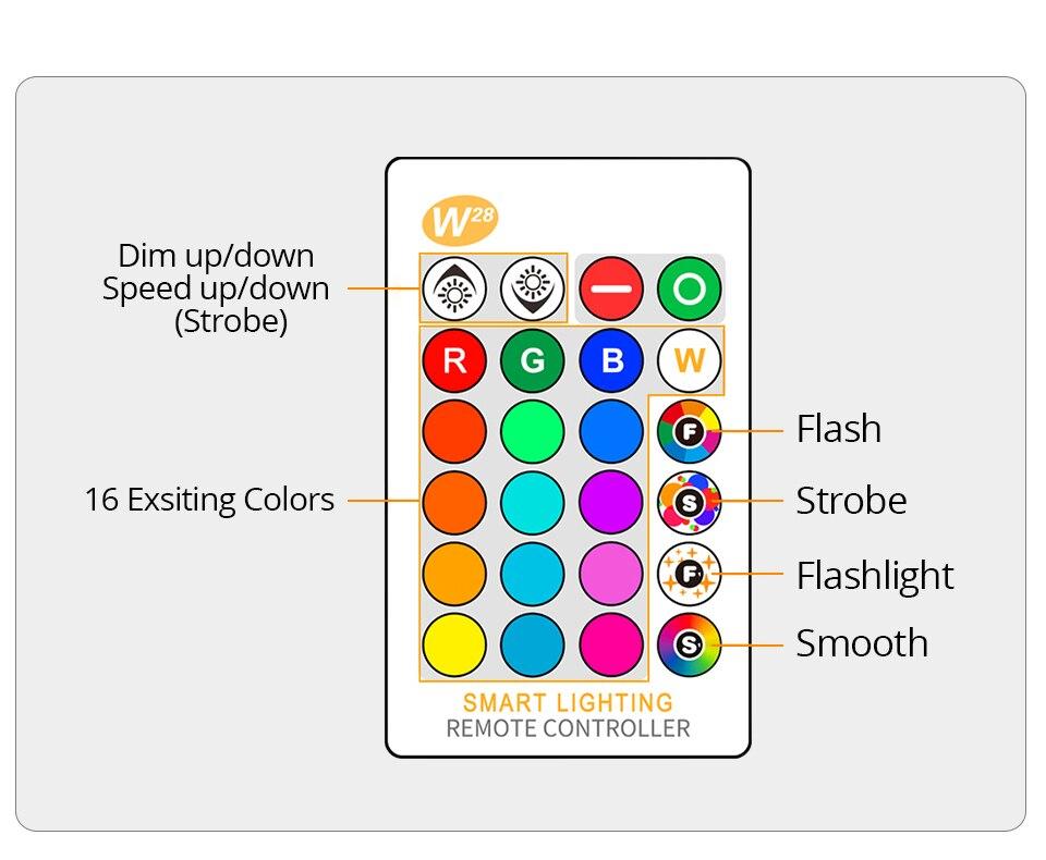 85-265V E27 LED Lamp RGB 15W Bluetooth APP Wifi Control Smart Bulb 10W RGBW RGBWW Light Bulb IR Remote Control Home Lighting (34)