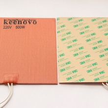 Keenovo Silicone Heater 3D Printer Engine Block Oil Pan Heater , Better Replacement of Reprap PCB Heated Bed,20X20cm,500W 220V
