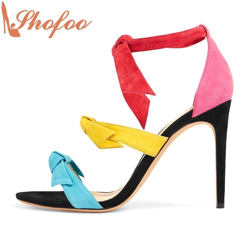 ФОТО Shofoo Luxury Women Brands 2017 Summer Women High Heels Sandals Party&Wedding&&Evening ,zapatillas con taco mujer ,Big Size 4-16