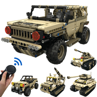 Remote Military Tanks Building Blocks Toys Compatible Legoed Technic Armor Alliance Marine Corps Remote Control Tank Block Toy