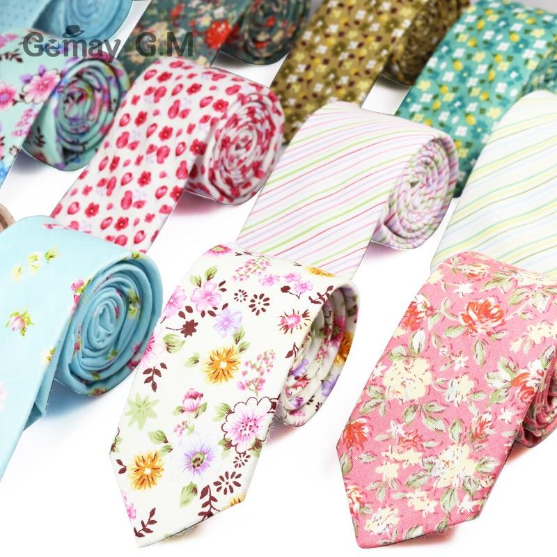 Nová móda květinové Retro Neformální obleky Pánské Slim Tie Tisk Květinové Vzorky Kravaty Pro muže úzké bavlněné krk
