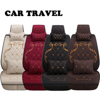 Flax car seat covers for Nissan Qashqai Teana Tiida X tral Note car cushion car accessories Automobiles seat cover