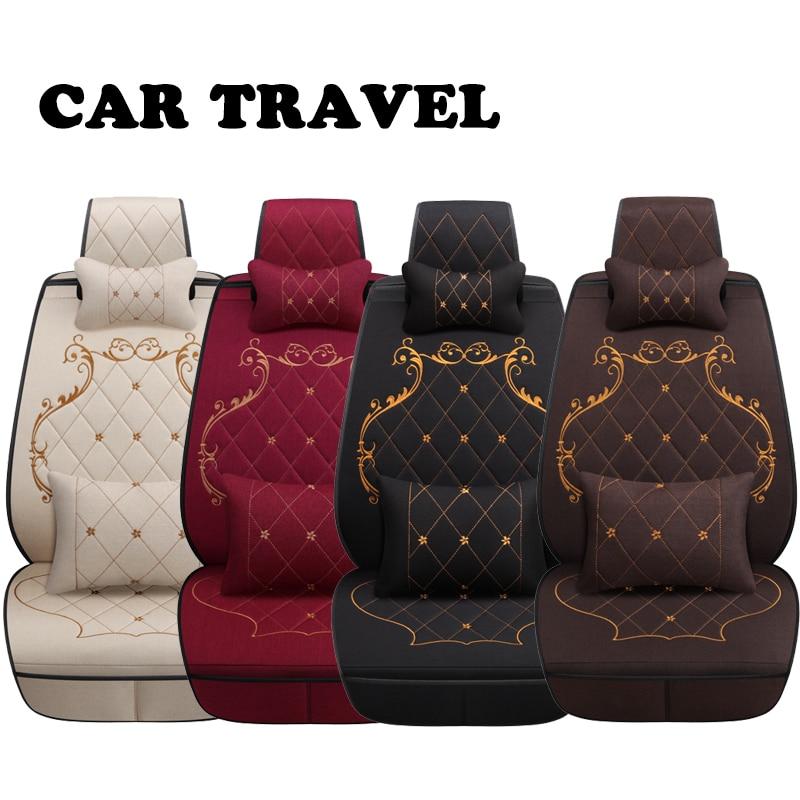 Siège d'auto de lin couvre pour Nissan Qashqai Teana Tiida X-tral Note de voiture coussin de voiture accessoires Automobiles siège couverture