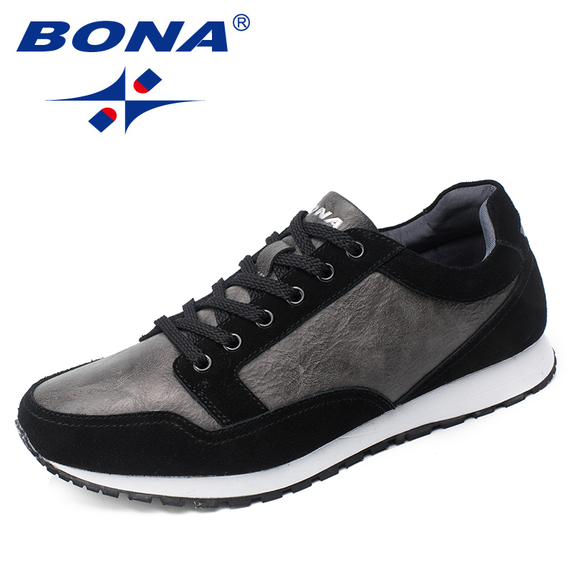 BONA New Arrival Basic Style Men Running Shoes Outdoor Jogging Walking Sneakers Lace Up Athletic Shoes Men Fast Free Shipping