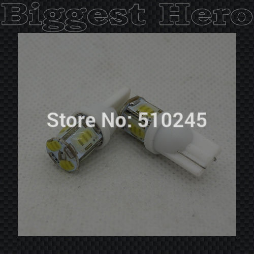 100xHigh quality car led Strobe flash flashing lamp 194 W5W 6SMD T10 wedge cob 6 led SMD white blue yellow green red