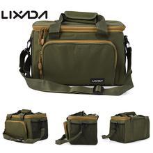 Lixada Новый портативный универсальный рыболовный мешок холст рыболовная приманка катушка плечо Талия рюкзак сумка для карпа Pesca 37*25*25 см