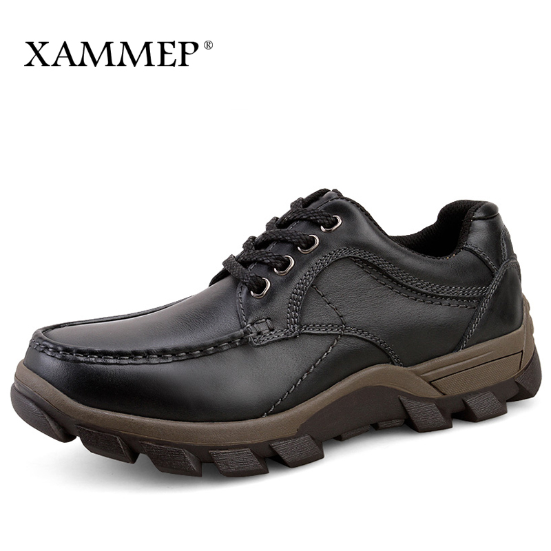 Genuine Leather Men Shoes Brand Casual Shoes For Men Flats Men Sneakers Spring Autumn Plus Big Size Slip On High Quality Xammep new spring autumn genuine leather men casual shoes man flats fashion suede flat handmade shoe waterproof non slip high quality