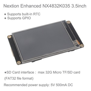 "Image 2 - Nextion عرض تعزيز 3.5 بوصة 3.5 ""UART HMI وحدة عرض تعمل باللمس شاشة LCD + أسود الاكريليك الحال بالنسبة لاردوينو التوت بي"