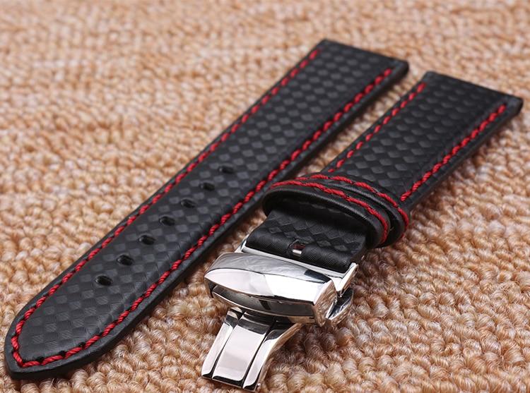 Pulseira de relógio 18mm 20mm 22mm 24mm Popular Red Costura tecido - Acessórios para relógios - Foto 4
