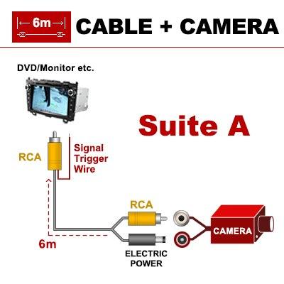 Sinosmart проводной HD автостоянка камера заднего вида для VW Bora CC крыло r-зажим линия фаэтон гольф и т. д. Ночного видения - Название цвета: wired for dvd 6m