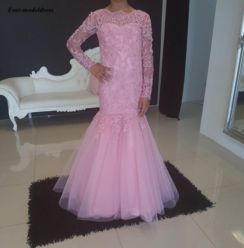 Chic Sheath Boat Neck Kids Birthday Party Gowns Lace Long Sleeves   Flower     Girls     Dresses     Girls   Pageant   Dresses   2019