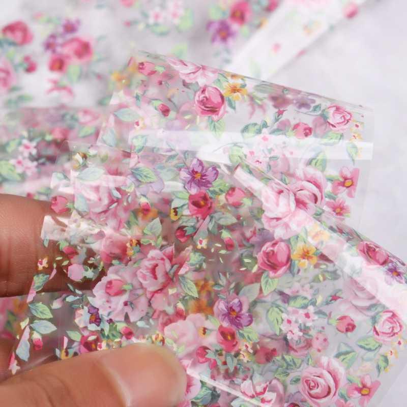 100*4 ซม. ออกแบบดอกไม้สติ๊กเกอร์เล็บ Decals เล็บที่มีสีสัน Transfer Foils สติกเกอร์สำหรับตกแต่งเล็บเครื่องมือทำเล็บมือ DIY
