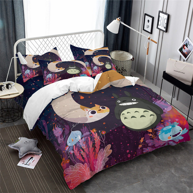 COLORFUL 3D TOTORO BEDDING SET (3 VARIAN)