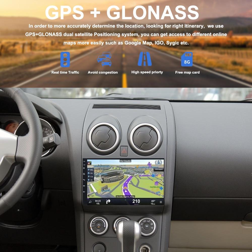 Car Multimedia Player 2 din car radio gps android for Nissan Qashqai Autoradio 2008 2009 2010