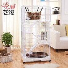 Villa double cat cage pet large litter house