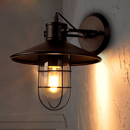 Light House Restaurant Loft Vintage industrial wall lamp bedroom bedside American outdoor balcony warehouse wall lights GY263