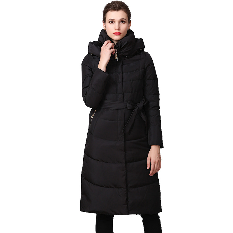 European Autumn Winter Women Parkas   Down     Coats   With Hoody 90% Duck   Down   Lady Slim Trench Outerwear Overcoat LF4317