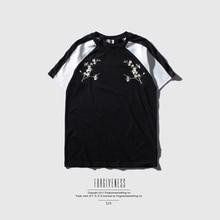 Forgiveness Traditional Chinese T-shirt Men Plum Blossom Embroidery t shirt Tee Black Short Sleeve Male Shirt C330