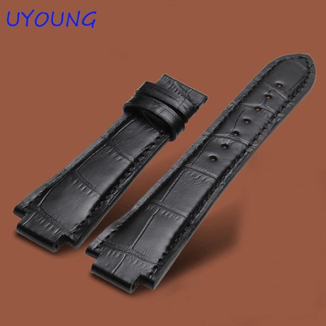 24mm yüksek kalite hakiki Deri saat kordonları tissot Için T60 saat kayışı Erkek bileklik Için Dışbükey arayüzü kordonlu saat 14mm