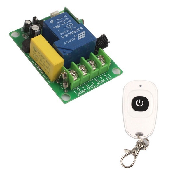 433/315 MHz AC 220V 30A 1 CH Relay Wireless Remote Switch Transmitter+Receiver
