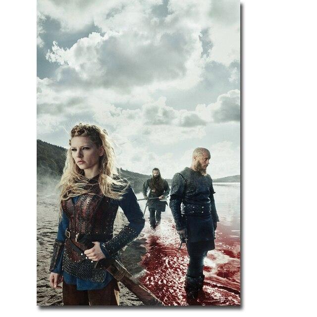Шелковый плакат гобелен сериала Викинги в ассортименте