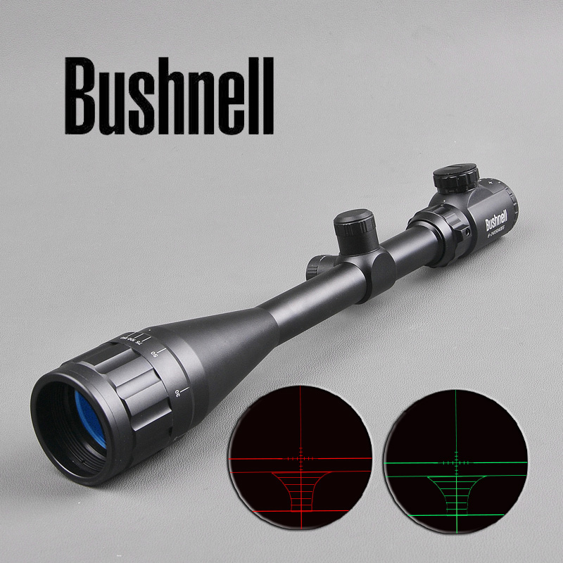 BUSHNELL 6-24X50 AOE Tactical Optical Rifle Scope Red and Green Mil-dot Illuminated Sniper Hunting Scopes Air Gun tactical optical riflescope 6 24x50 aoe red