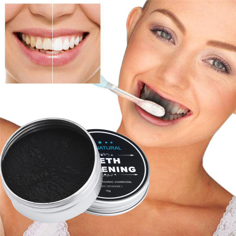 Bamboo Toothpaste Whitening-Powder Activated-Charcoal Organic Teeth Clareamento Blanqueador
