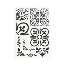 DIY Craft A4 Size Vintage Flower Frame Pattern Stencil Template For Wall Painting Scrapbooking Stamping Photo Album Decorative
