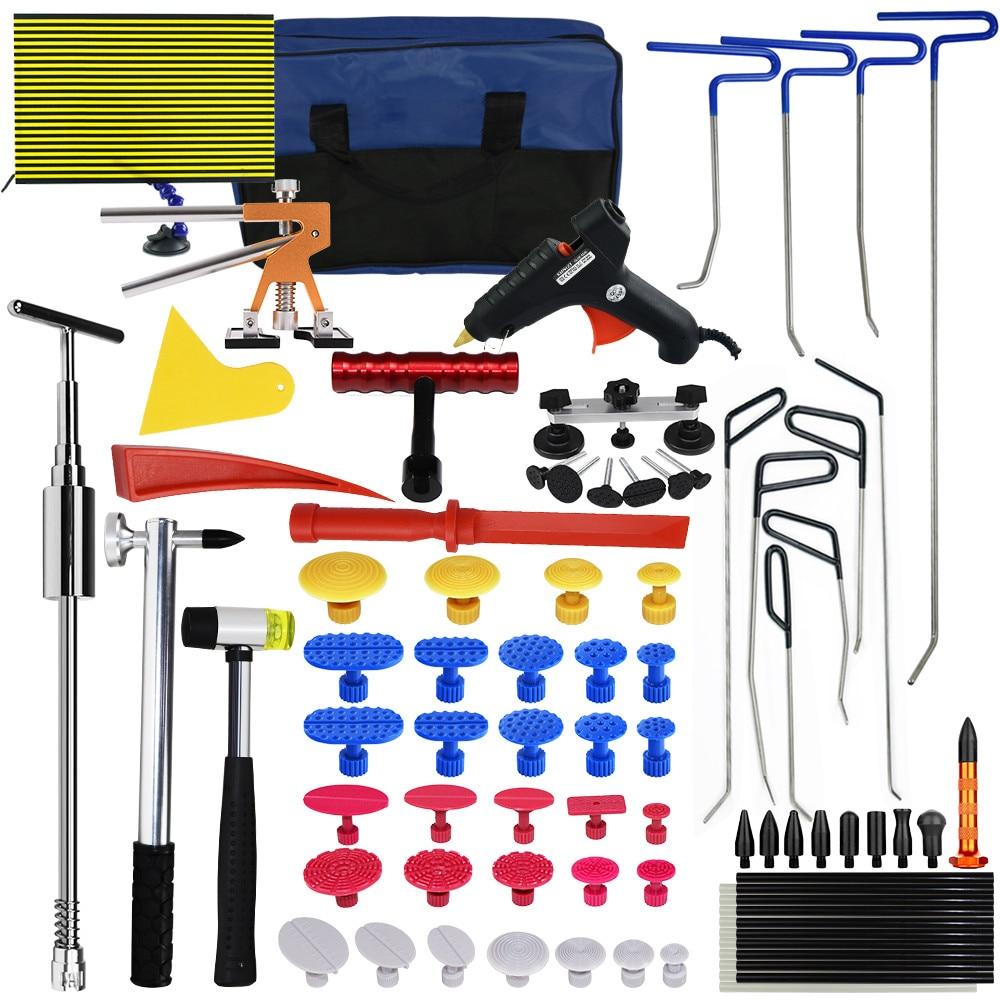 Furuix безболезненный вмятин Ремонтный комплект с PDR стержнями Dent Puller Dent Lifter Свет PDR слайд молоток автомобильный вмятин Remover Комплект PDR клей ко...