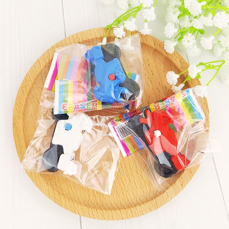 Купить с кэшбэком 1X  Creative cartoon locomotive styling eraser children stationery gift prizes  kawaii school supplies papelaria Free shipping