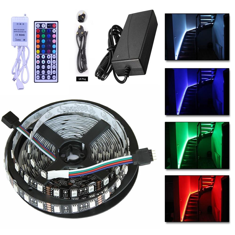 5050 RGB LED-csík nem vízálló / vízálló 5M 300 LED-es - LED Világítás