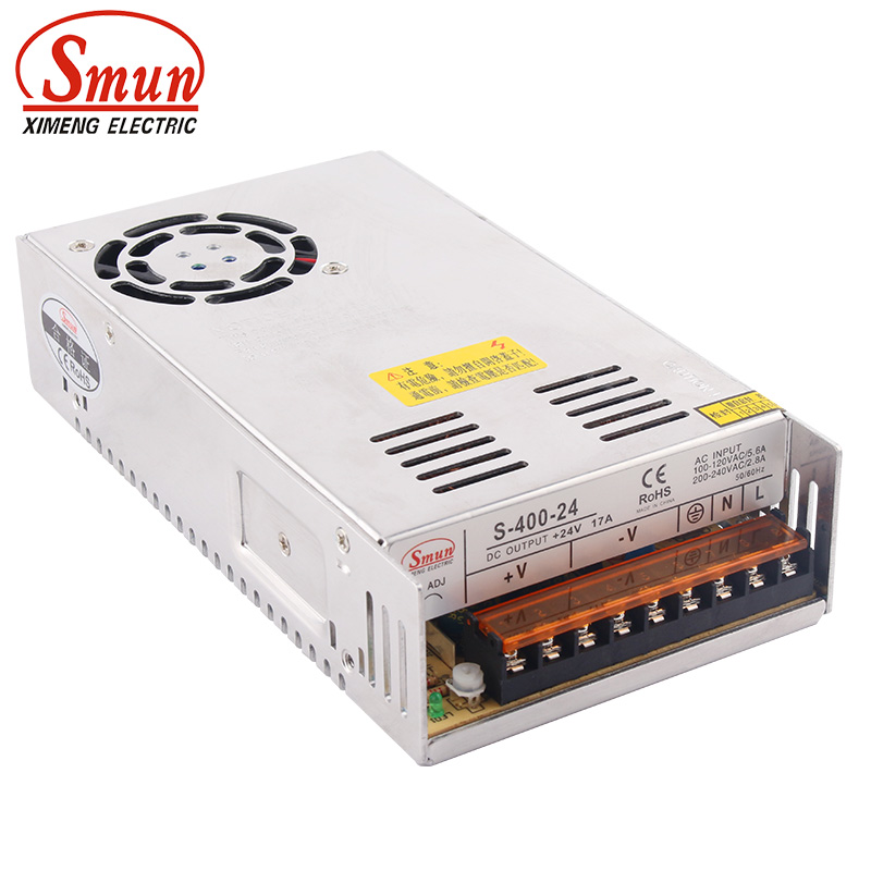 SMUN S-400-24 110VAC/220VAC to 400W 24VDC 17A AC/DC Switching Power Supply SMPS