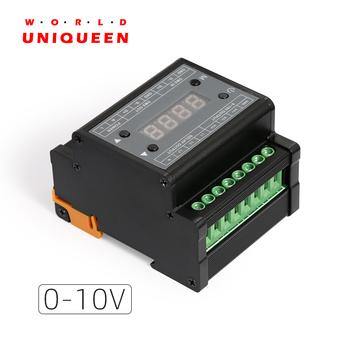 DMX303 konwerter sygnału DMX512 na 0-10V wyjście 3 CH z wyświetlaczem cyfrowy w kształcie tuby czarna powłoka sterownik ściemniacza 0-10V tanie i dobre opinie WORLD UNIQUEEN plastic ROHS DMX 3CH high-voltage dimmer (output 0-10V) null Ściemniacze 1 year 150 mA CH 3 channel