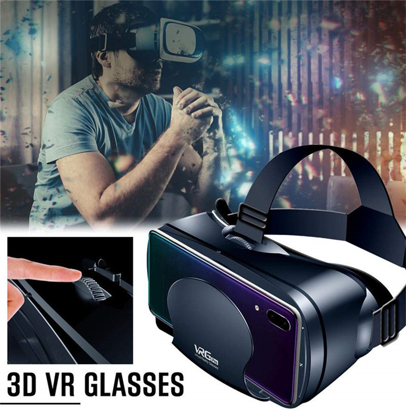 VRG Pro 3D VR Glasses Virtual Reality Full Screen Visual Wide-Angle VR Glasses For 5 to 7 inch Smartphone Eyeglasses Devices