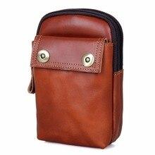JMD Vintage Genuine Leather Phone Case Bag Belt Waist Mens Small Funny Pack Purse 5001
