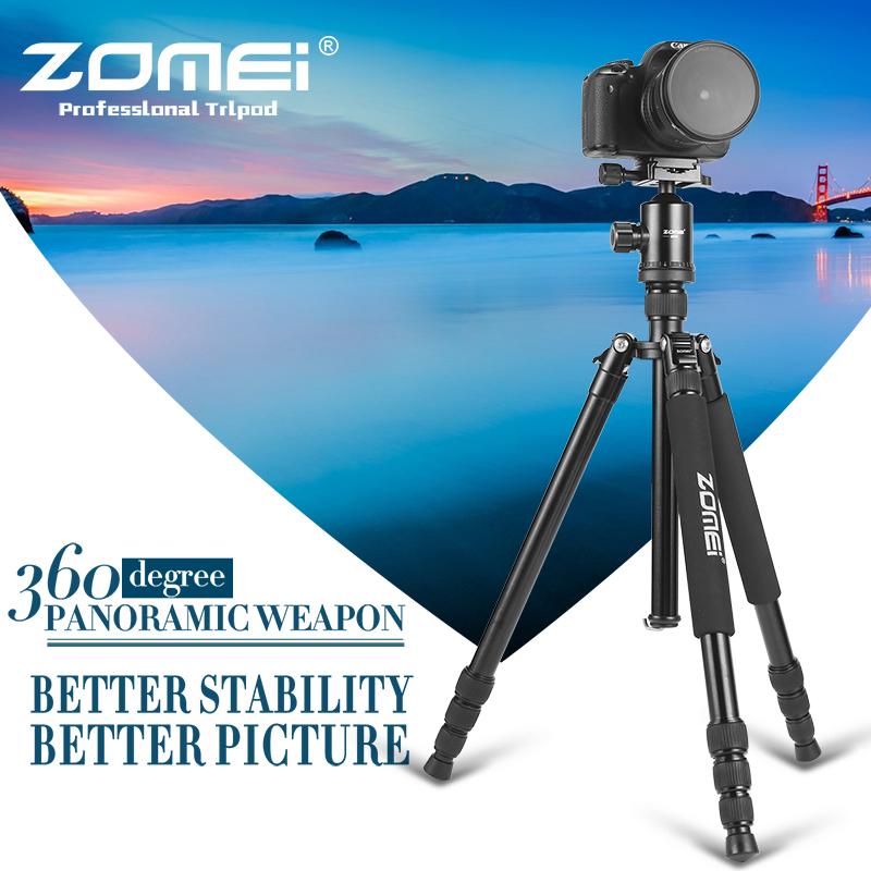 Prix pour Zomei z818 portable professionnel en aluminium voyage caméra trépied avec plateau rapide manfrotto flexible trépied jambes