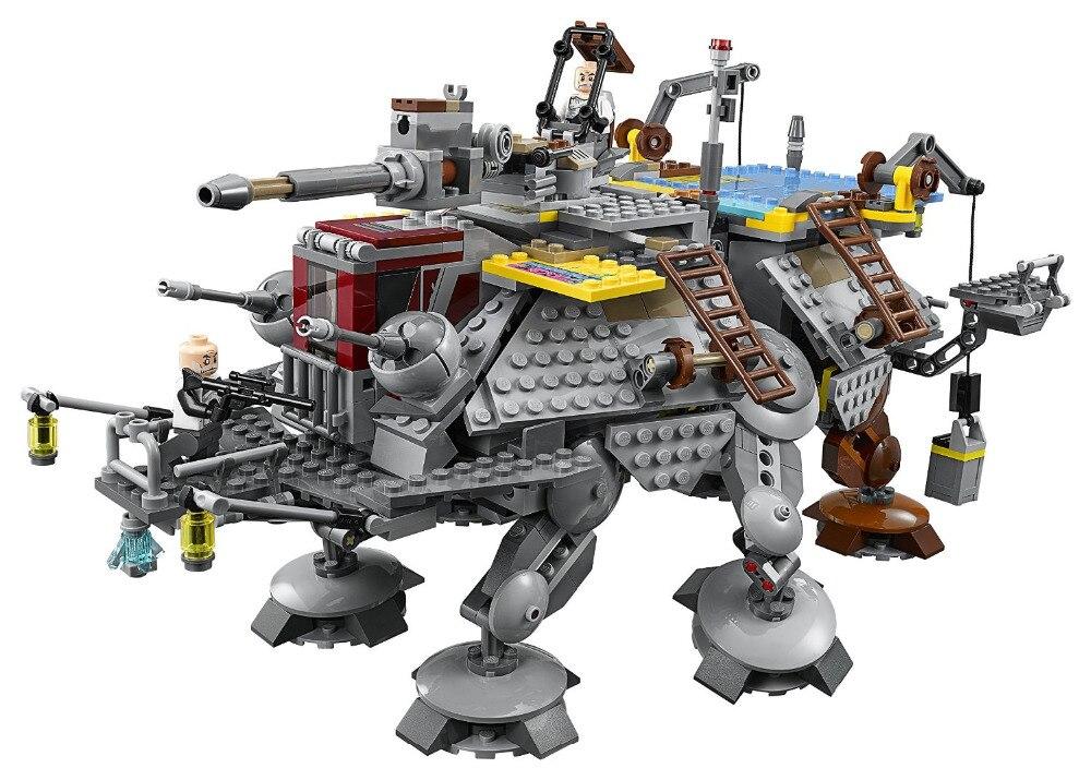 ФОТО LEPIN Star Wars Captain Rex's AT-TE Figure Toys Model Building Blocks set Marvel  Compatible Legoe
