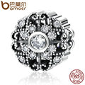 BAMOER Classic 925 Sterling Silver Fairytale Bloom, Clear CZ Charms Fit Bracelets Fashion Jewelry Accessories PAS393