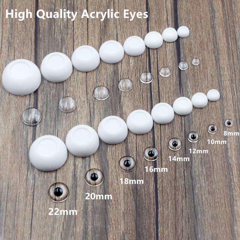 8mm Hand Made BJD Doll Eyes Grey Silver Acrylic Half Ball