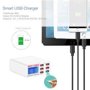 Image 5 - Универсальный USB адаптер для быстрой зарядки 3,0, 6 USB портов, 40 Вт, 5 В, 6 А