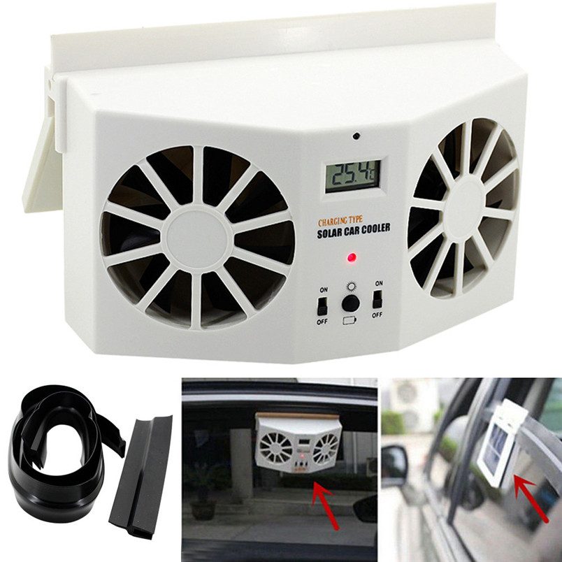 2017 Solar Powered Car Window Air Vent Ventilator Mini Air Conditioner Cool Fan NEW fashion car-styling car accessories