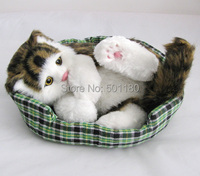 Free shipping by air handmade animal cat for home decoration or gift and toys