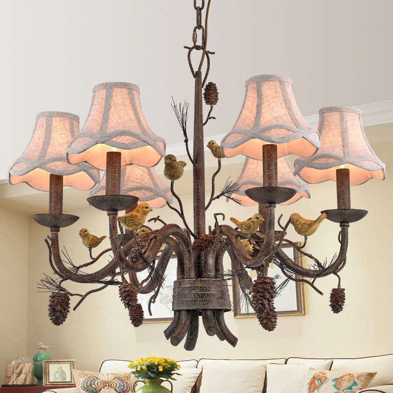 Wrought Iron Chandelier Island Country Vintage Style ...