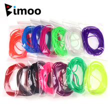 Bimoo 4m/pack 2mm Soft Elastic Thin Film Silicone Tube for Nymph Worm Skin Fishing Rig Sleeve Sabiki Making Fly Tying Material цены онлайн